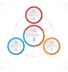 infographic circle with 3 options vector image