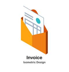 Invoice isometric vector