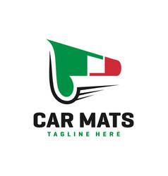 italian car carpet industry logo vector image