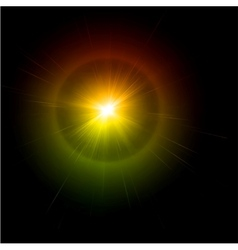 Light flare effect vector image