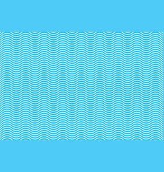 line wave on blue background vector image