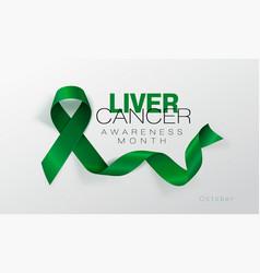 liver cancer awareness calligraphy poster design vector image