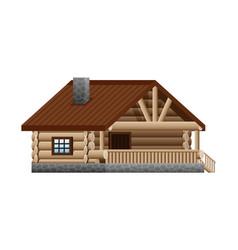 Log wooden house vector