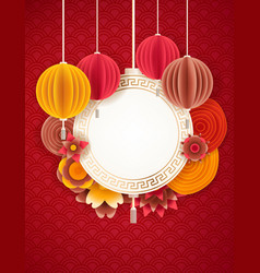 Lunar new year design background happy pig year vector