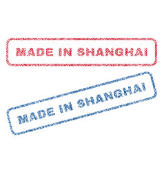 Made in shanghai textile stamps vector