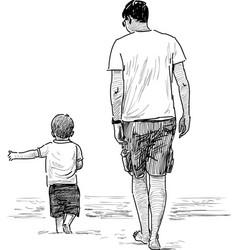 Man and his kid vector