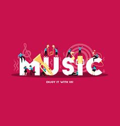 Music learning app banner vector