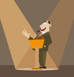 Orator on podium vector