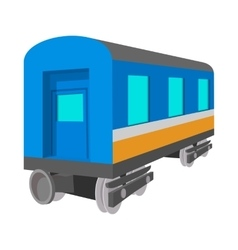 Passenger wagon cartoon icon vector
