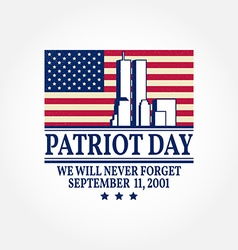 Patriot Day vintage design vector image
