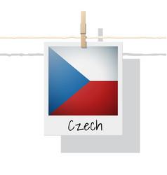 Photo of czech flag vector