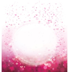 pink heart background circle vector image