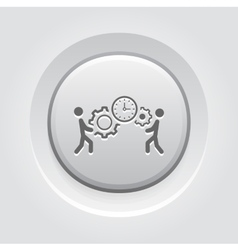 Project Management Icon Grey Button Design vector