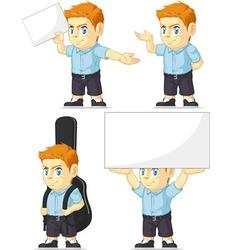 Red Head Boy Customizable Mascot 5 vector
