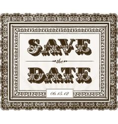save date invite vector image
