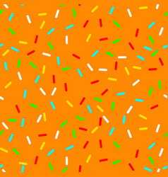 seamless background with orange donut glaze vector image