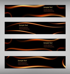 Set of abstract black web banner vector image