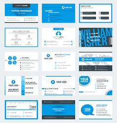 Set of modern creative business card templates vector image