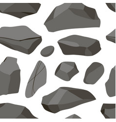 set of stones pattern vector image