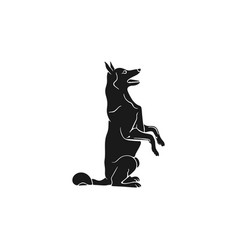 Shepherd silhouette icon monochrome sitting dog vector