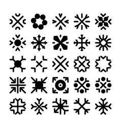Snowflakes Icons 3 vector image