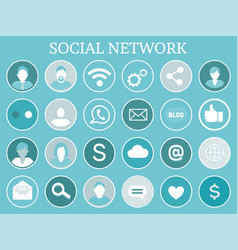 social network profiles icons vector image