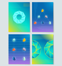 stones and shapes collection vector image