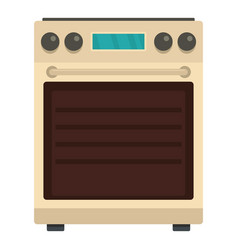 Stove oven icon flat style vector