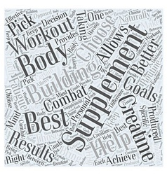 The best body building supplement word cloud vector
