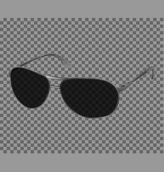 Trendy realistic black eye glasses modern vector
