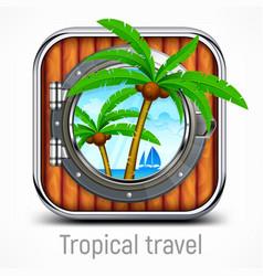 Tropical travel concept vector