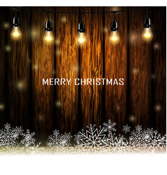 Vintage christmas wood background vector