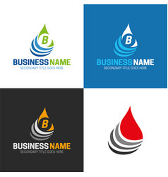 water or oil drop icon and logo vector image