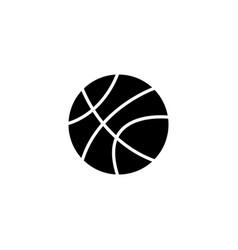 web icon basketball black on white background vector image