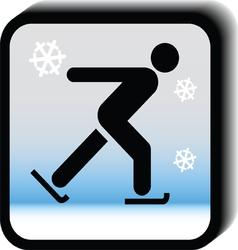 Winter icon -Skating vector image
