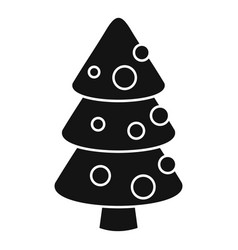 xmas fir tree icon simple style vector image