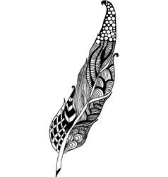 Zentangle feather vector