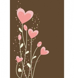 greeting with abstract hearts vector image