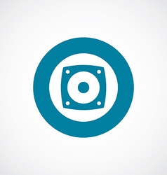 speaker icon bold blue circle border vector image