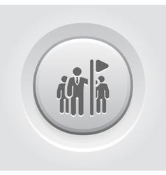 Team Leader Icon Grey Button Design vector image vector image