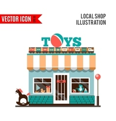 Toy shop icon isolated on white background vector image vector image