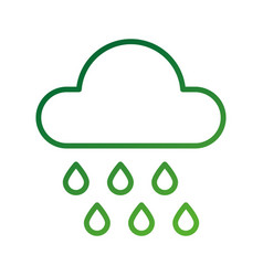 weather cloud rain drops season meteorology vector image