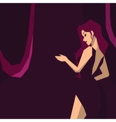 inviting beautiful girl vector image