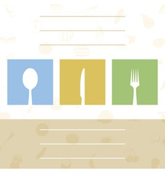 menu for cafe with tablewares a vector illustratio vector image vector image