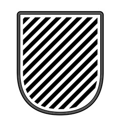 badge striped in monochrome silhouette vector image vector image