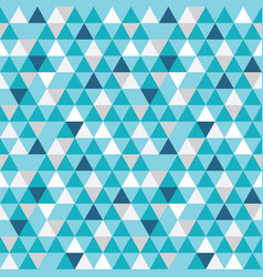blue and grey triangles texture seamless vector image vector image