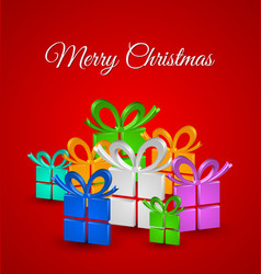 Christmas gifts card vector image vector image