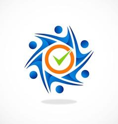 circle people mark choice group logo vector image vector image