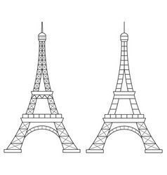 eiffel tower line icon vector image vector image