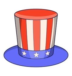 American hat icon cartoon style vector image vector image